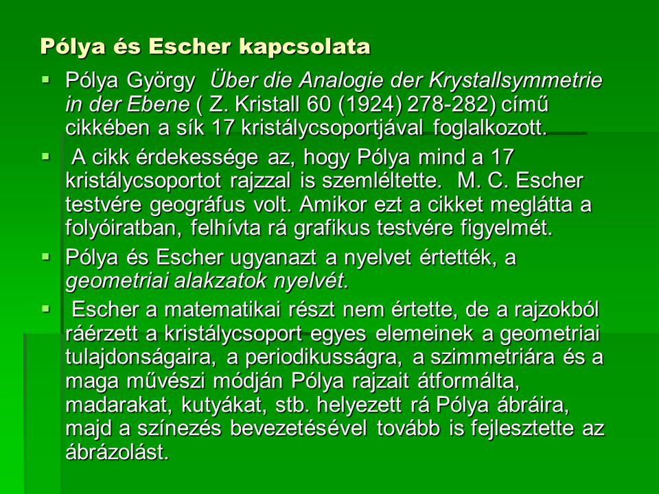 Pólya és Escher kapcsolata