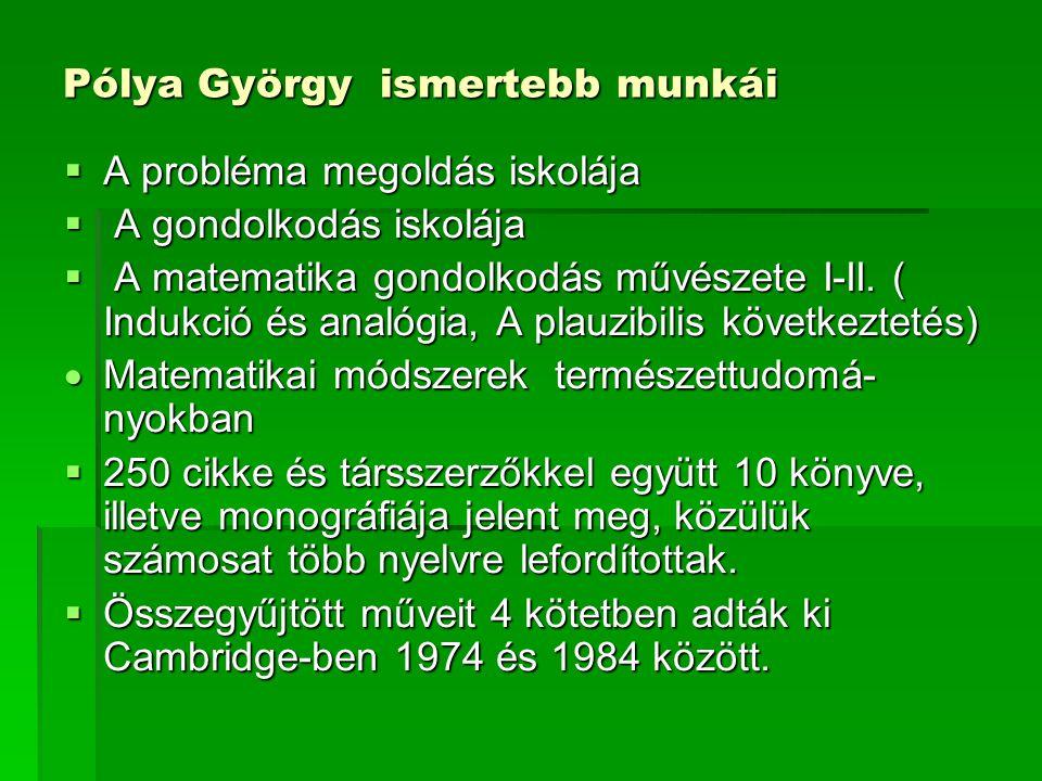 Pólya György ismertebb munkái