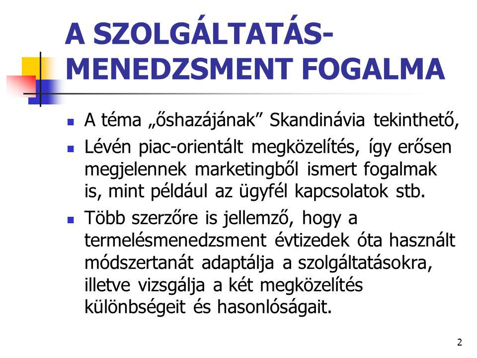 A SZOLGÁLTATÁS-MENEDZSMENT FOGALMA