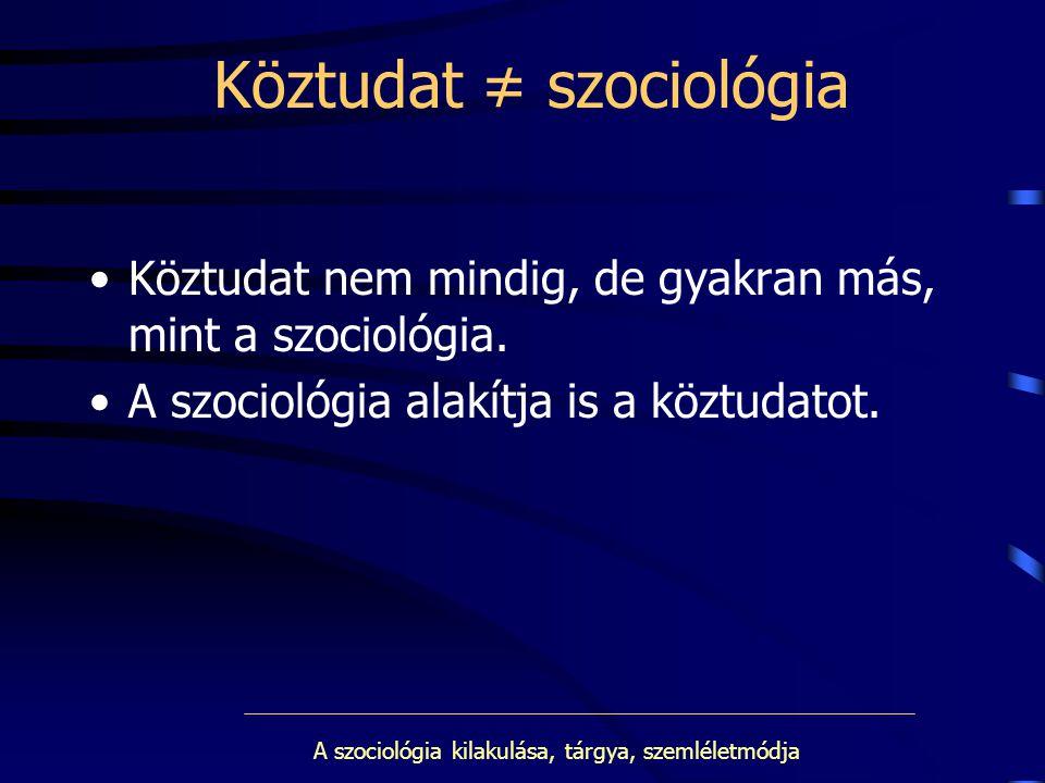 Köztudat ≠ szociológia