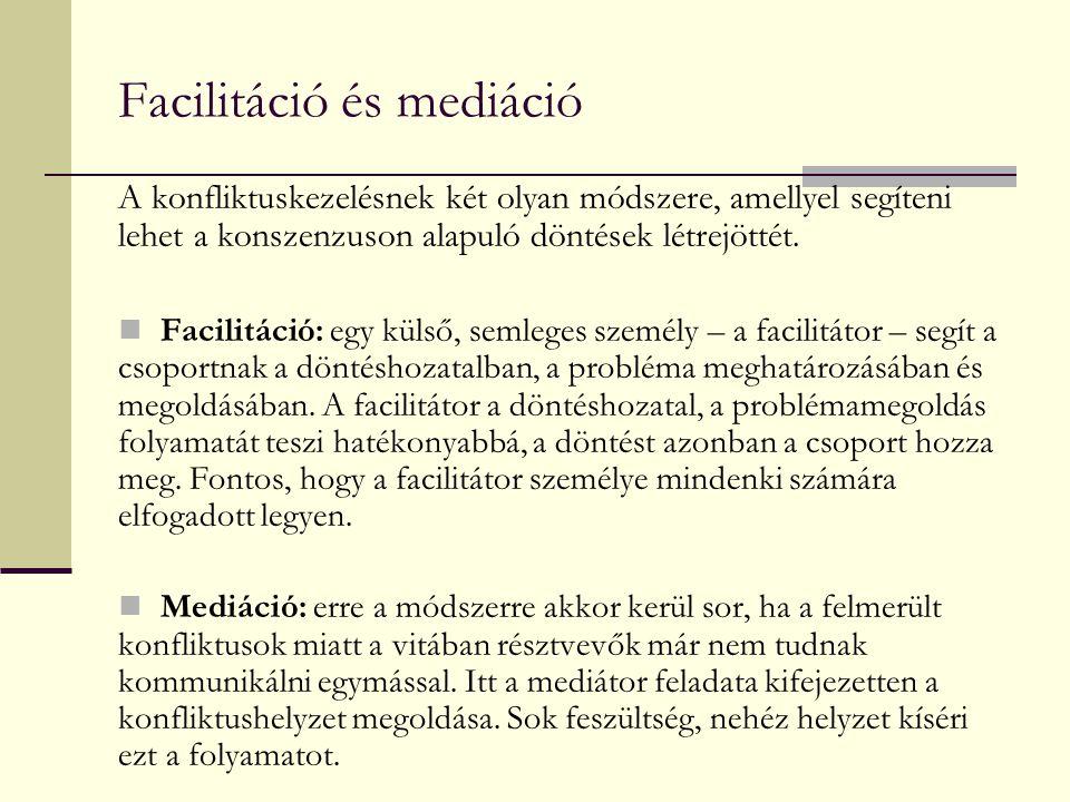Facilitáció és mediáció
