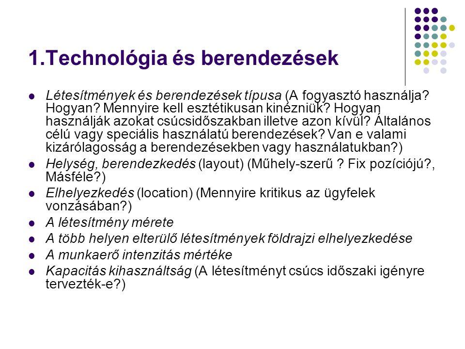 1.Technológia és berendezések