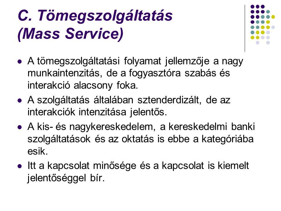 C. Tömegszolgáltatás (Mass Service)