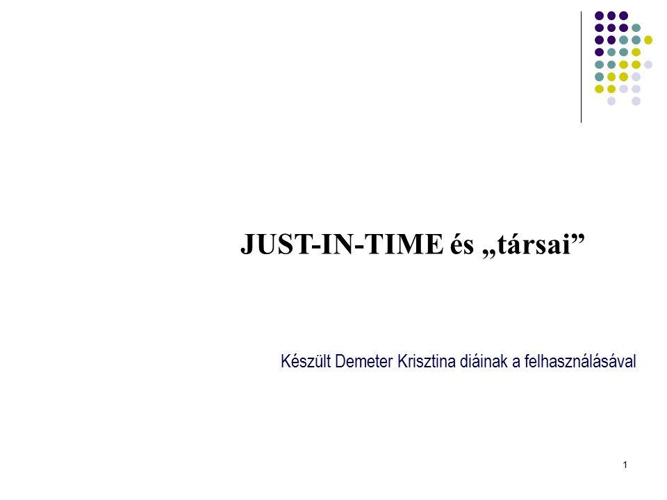 "JUST-IN-TIME és ""társai"