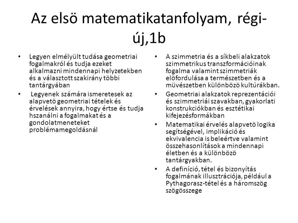 Az elsö matematikatanfolyam, régi-új,1b
