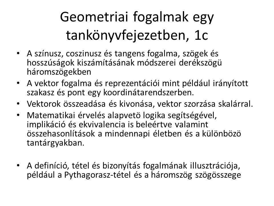 Geometriai fogalmak egy tankönyvfejezetben, 1c