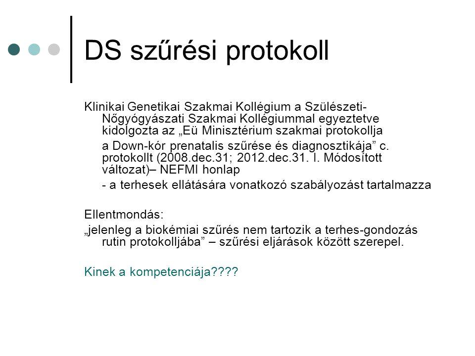 DS szűrési protokoll