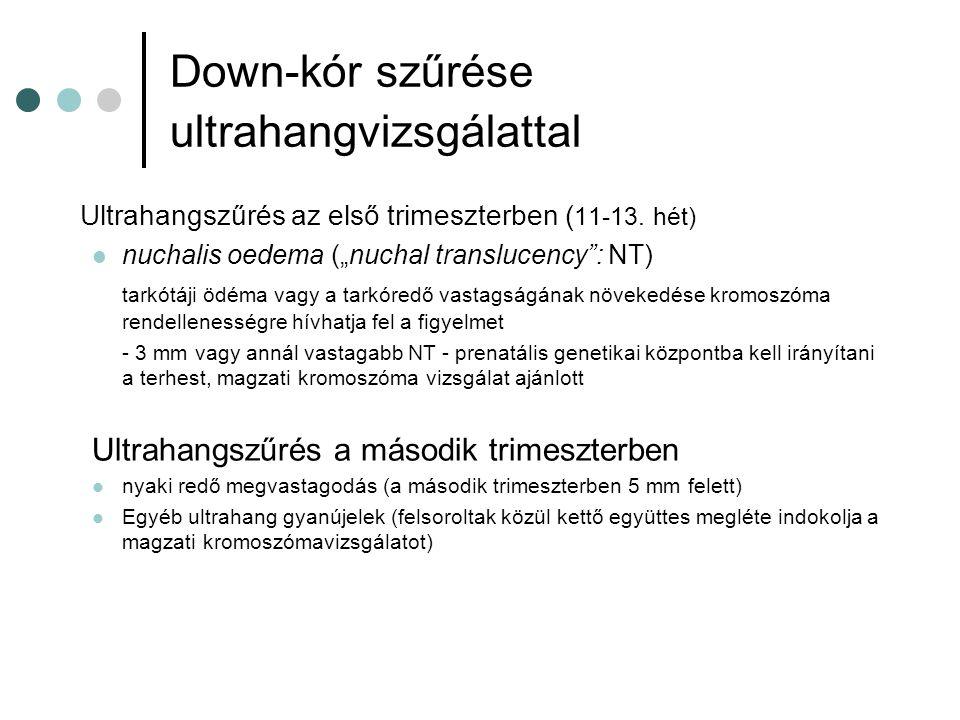 Down-kór szűrése ultrahangvizsgálattal