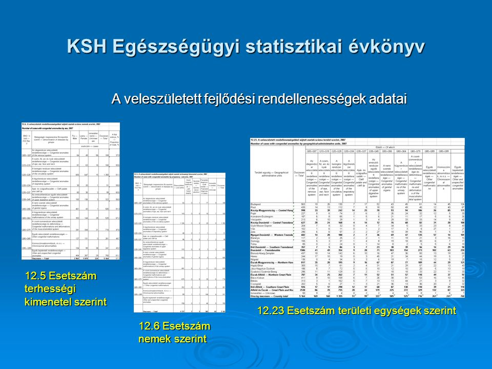 KSH Egészségügyi statisztikai évkönyv