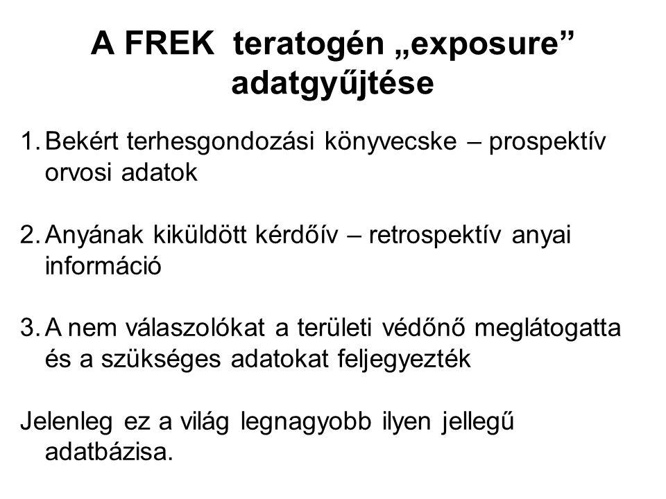 """A FREK teratogén """"exposure adatgyűjtése"""
