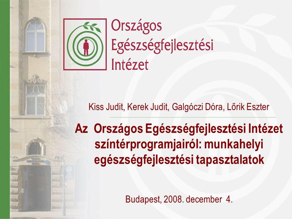 Kiss Judit, Kerek Judit, Galgóczi Dóra, Lőrik Eszter