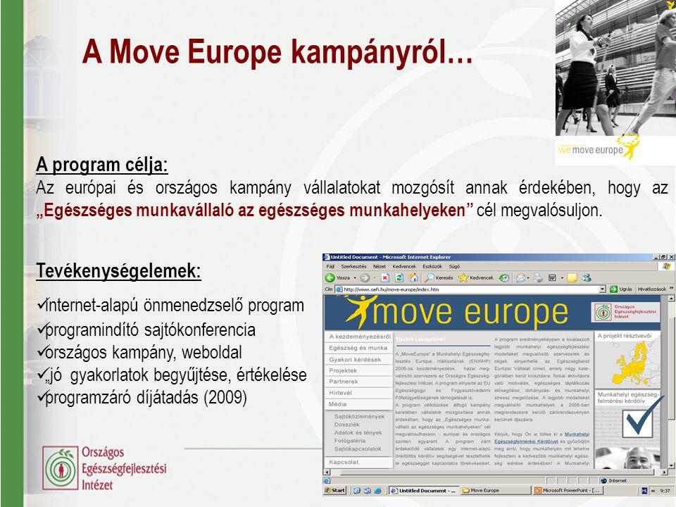 A Move Europe kampányról…