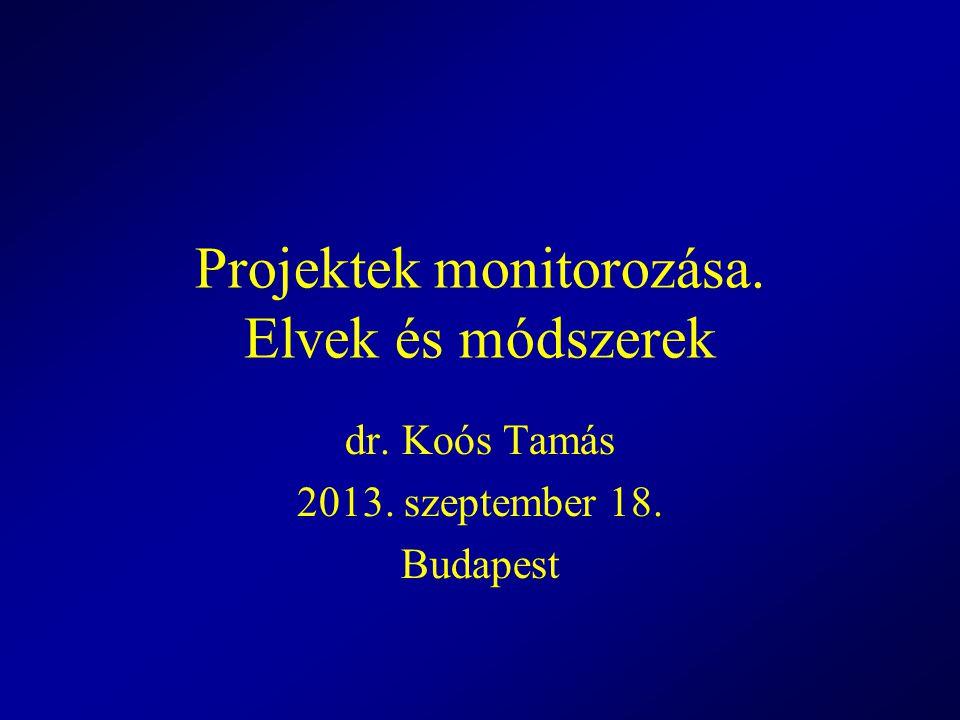 Projektek monitorozása. Elvek és módszerek
