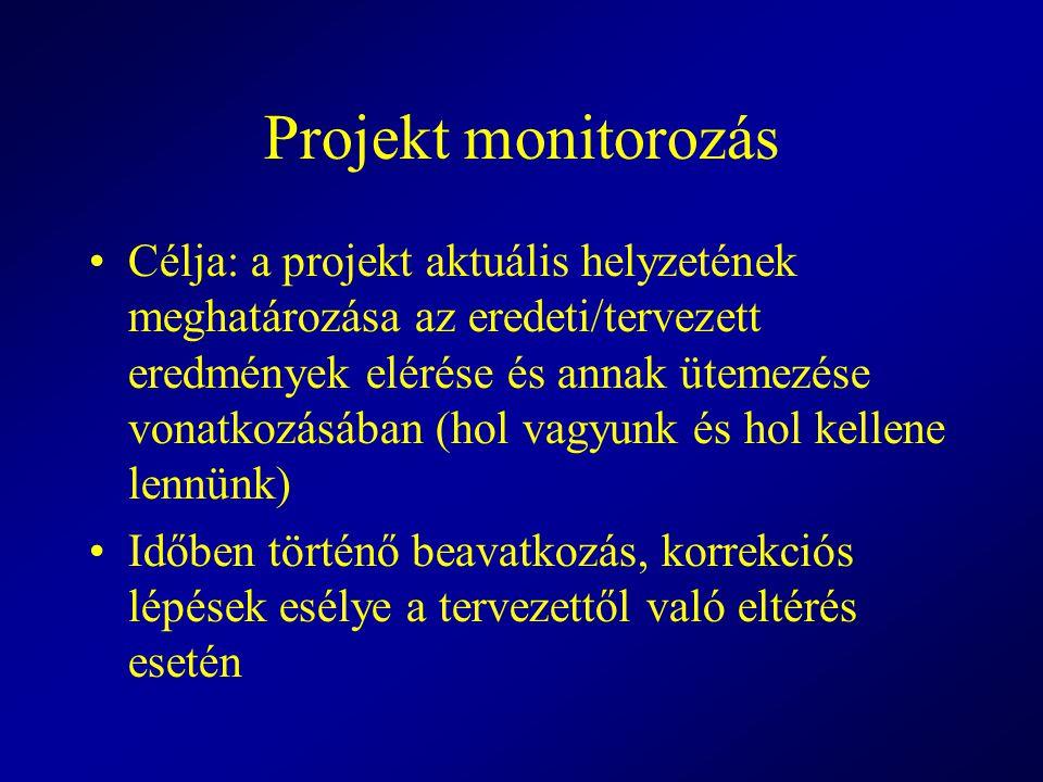 Projekt monitorozás