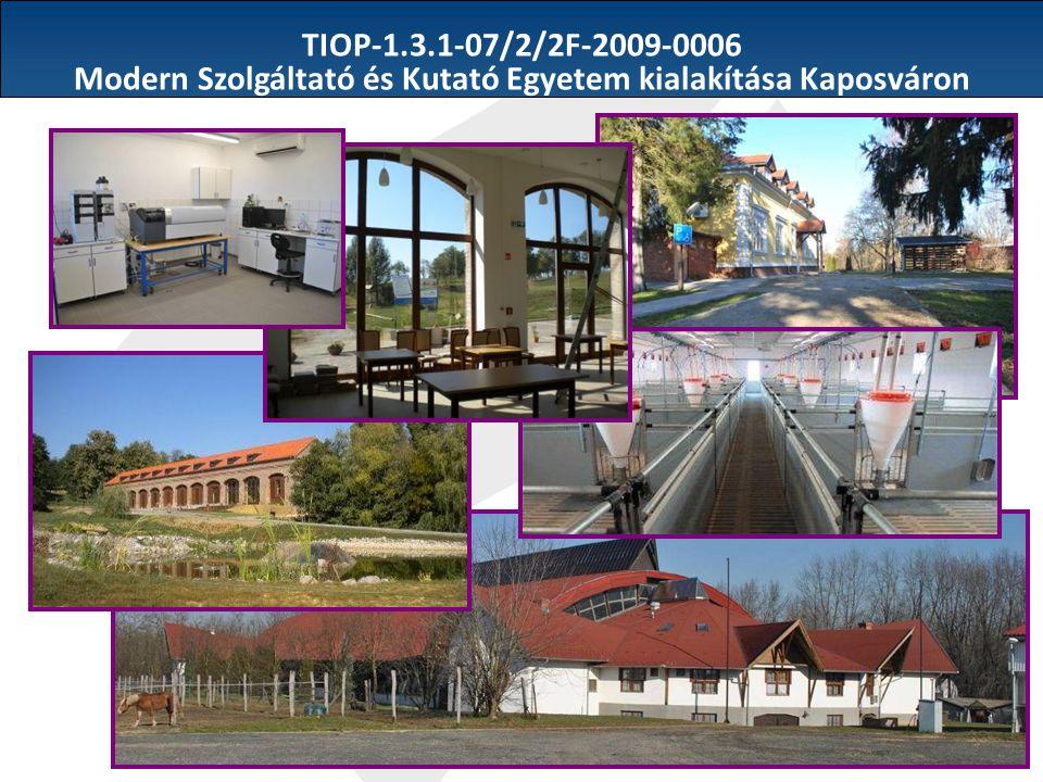 Modern Szolgáltató és Kutató Egyetem kialakítása Kaposváron
