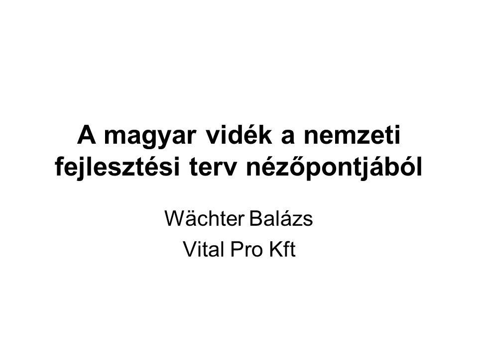 A magyar vidék a nemzeti fejlesztési terv nézőpontjából