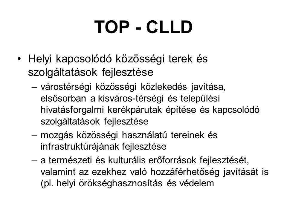 TOP - CLLD Helyi kapcsolódó közösségi terek és szolgáltatások fejlesztése.