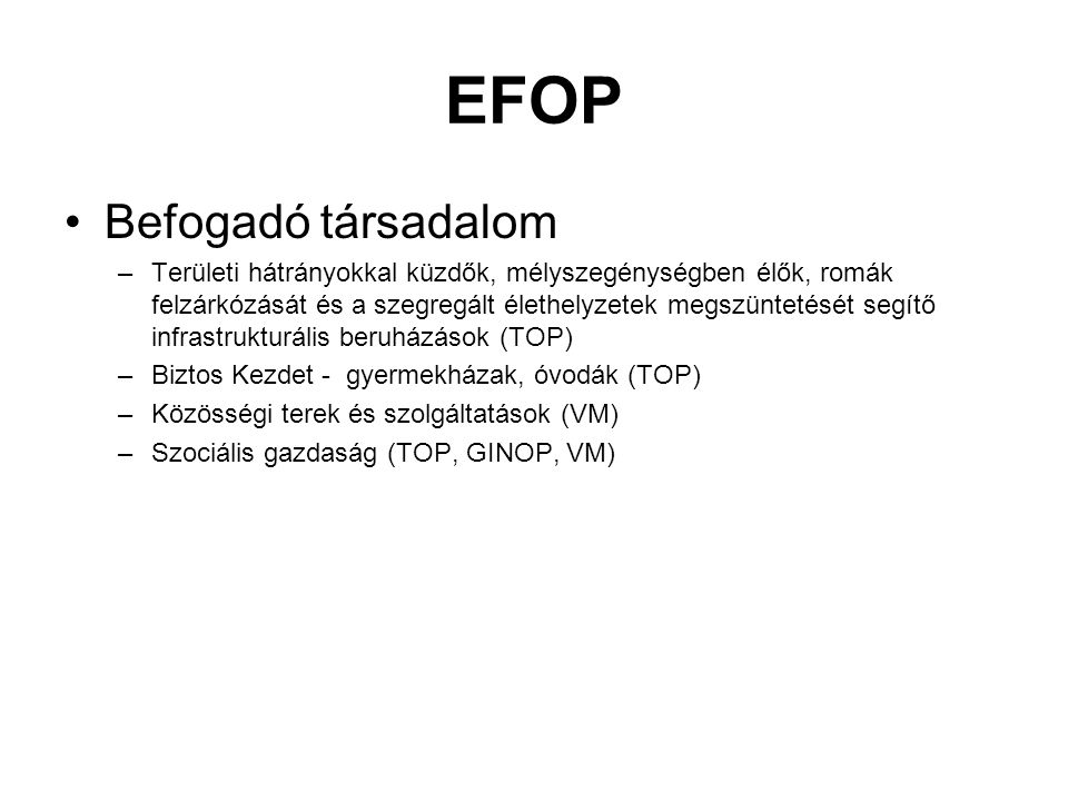EFOP Befogadó társadalom