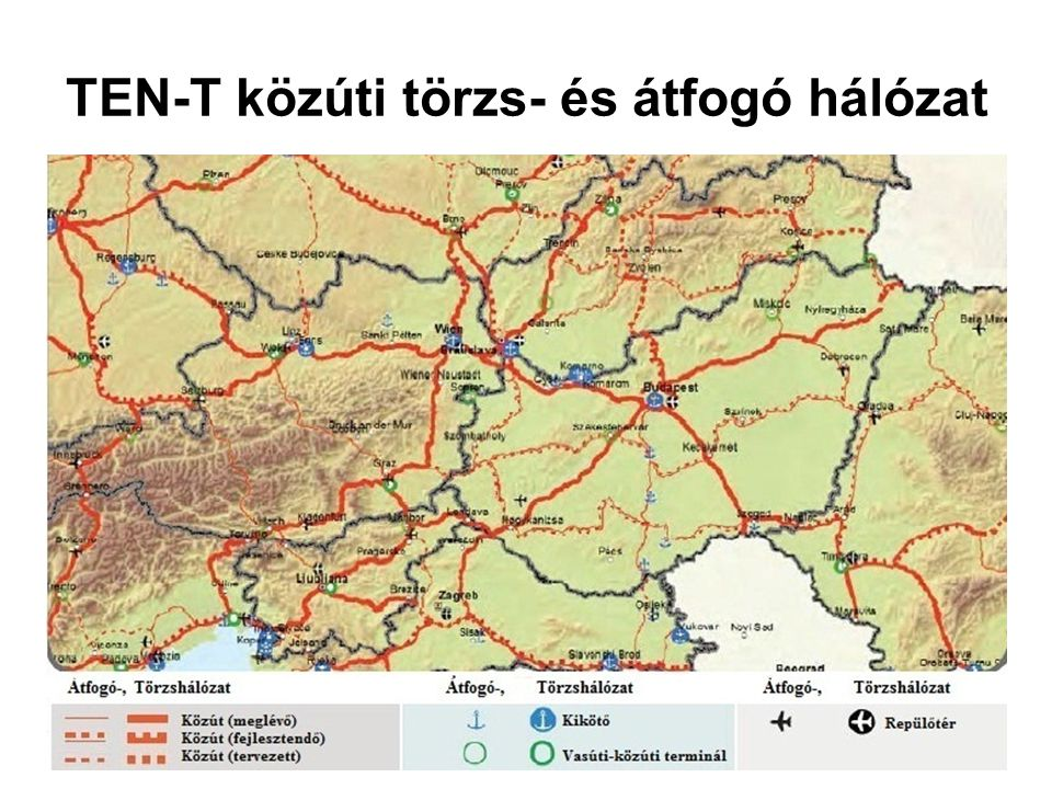 TEN-T közúti törzs- és átfogó hálózat