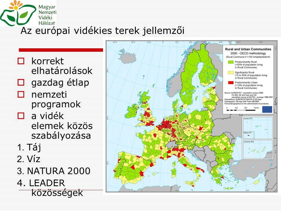 Az európai vidékies terek jellemzői