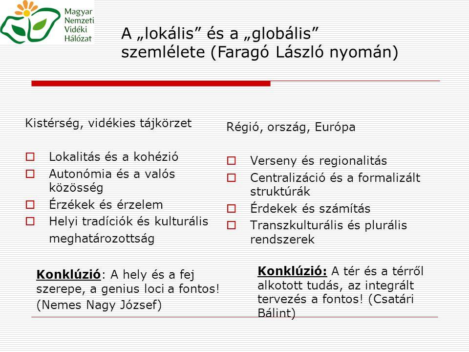"""A """"lokális és a """"globális szemlélete (Faragó László nyomán)"""