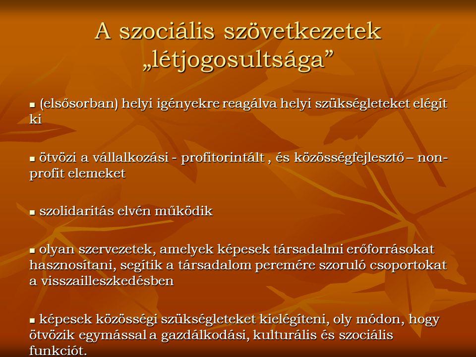 """A szociális szövetkezetek """"létjogosultsága"""
