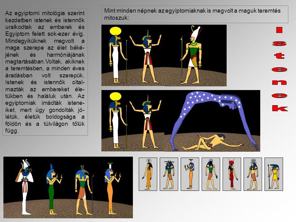 Mint minden népnek az egyiptomiaknak is megvolt a maguk teremtés mitoszuk: