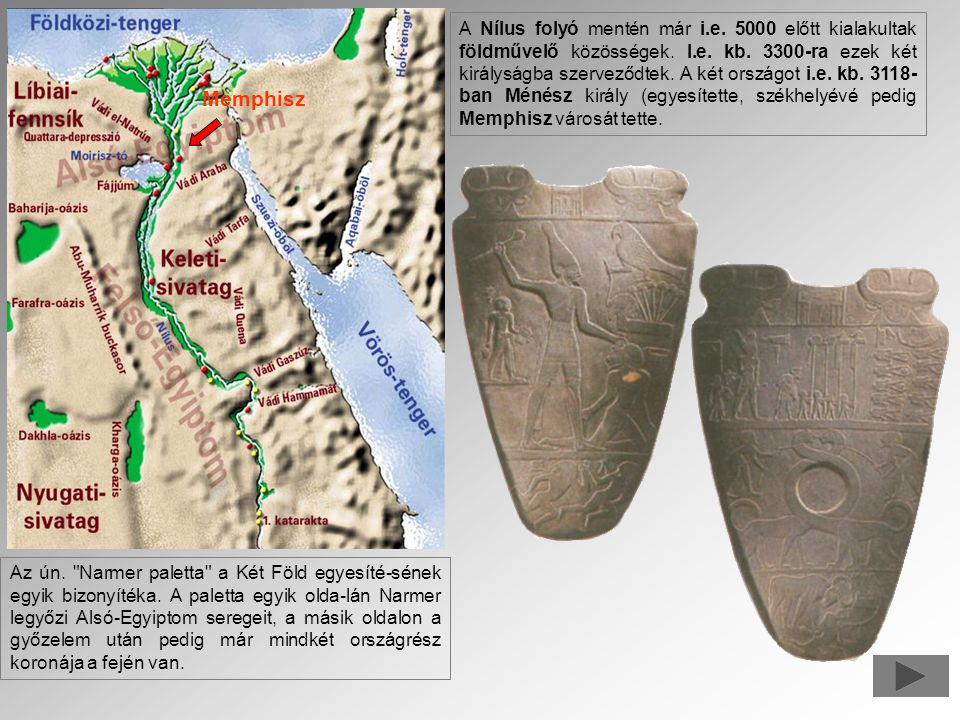A Nílus folyó mentén már i. e