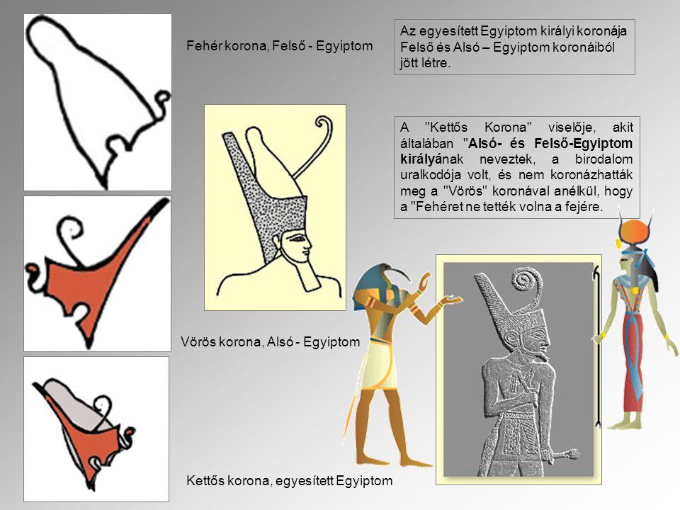 Az egyesített Egyiptom királyi koronája Felső és Alsó – Egyiptom koronáiból jött létre.