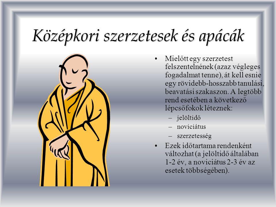 Középkori szerzetesek és apácák