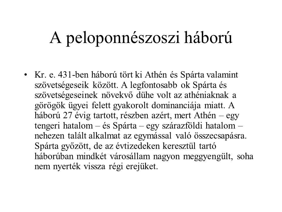 A peloponnészoszi háború