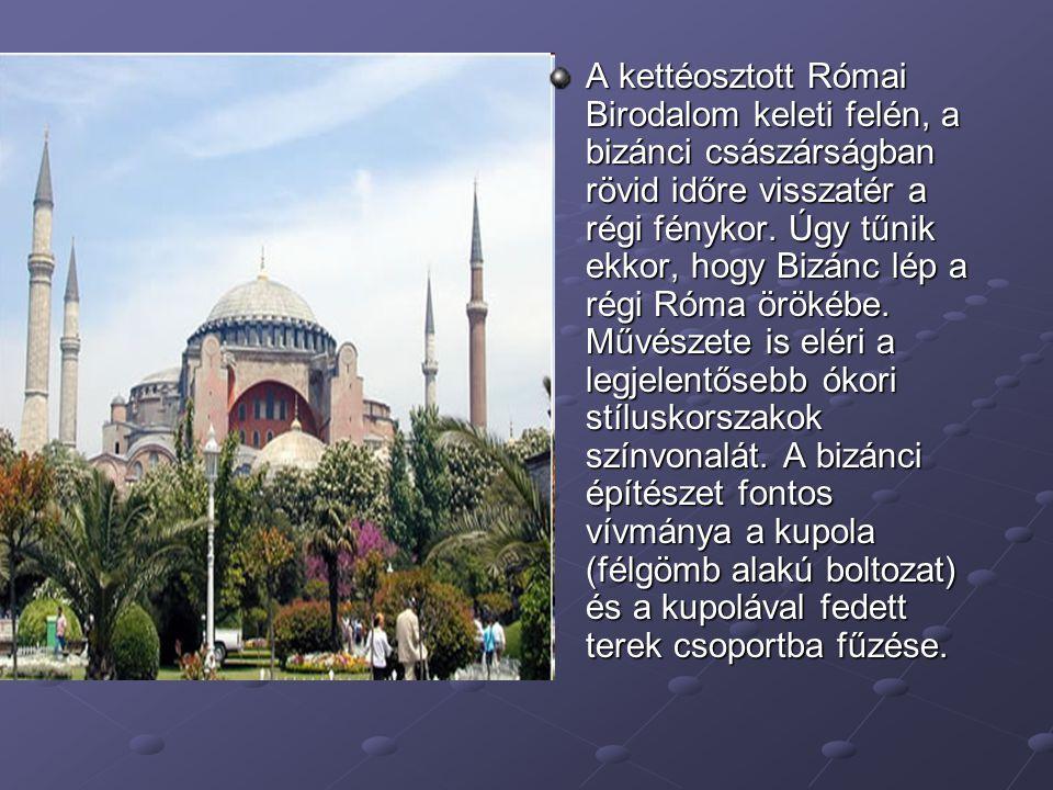 A kettéosztott Római Birodalom keleti felén, a bizánci császárságban rövid időre visszatér a régi fénykor.