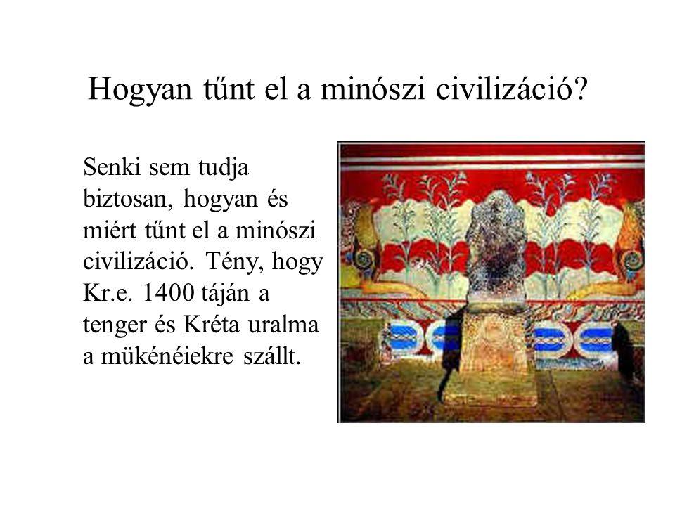 Hogyan tűnt el a minószi civilizáció