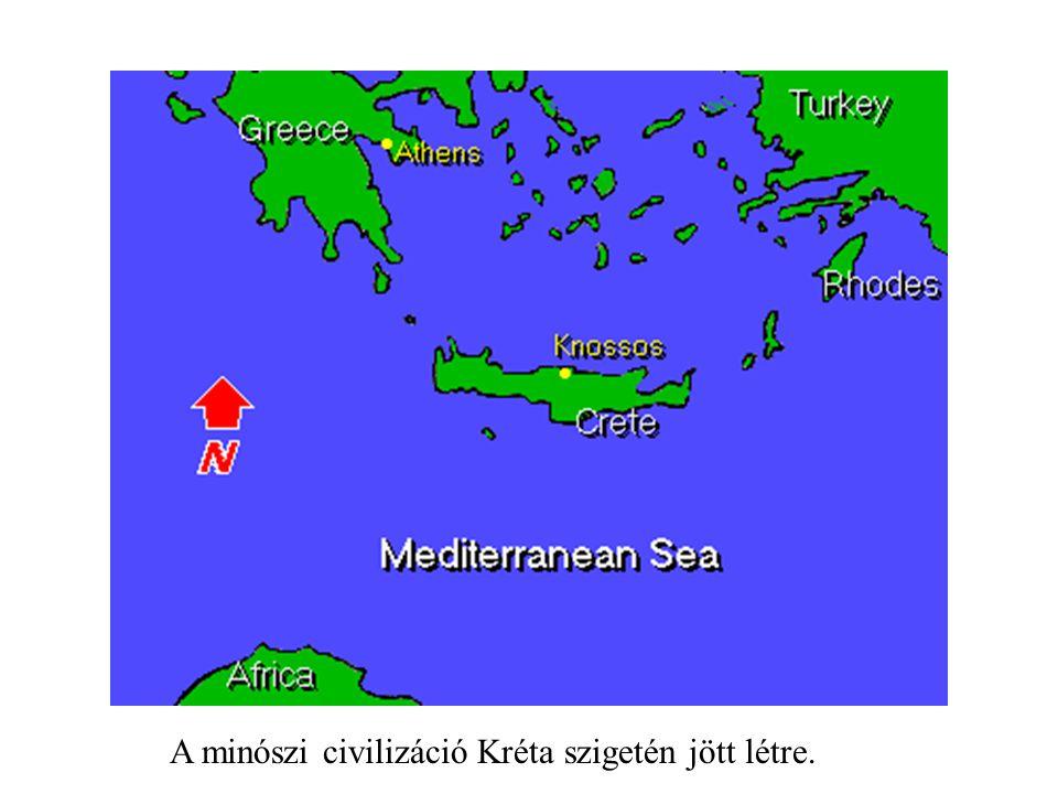 A minószi civilizáció Kréta szigetén jött létre.