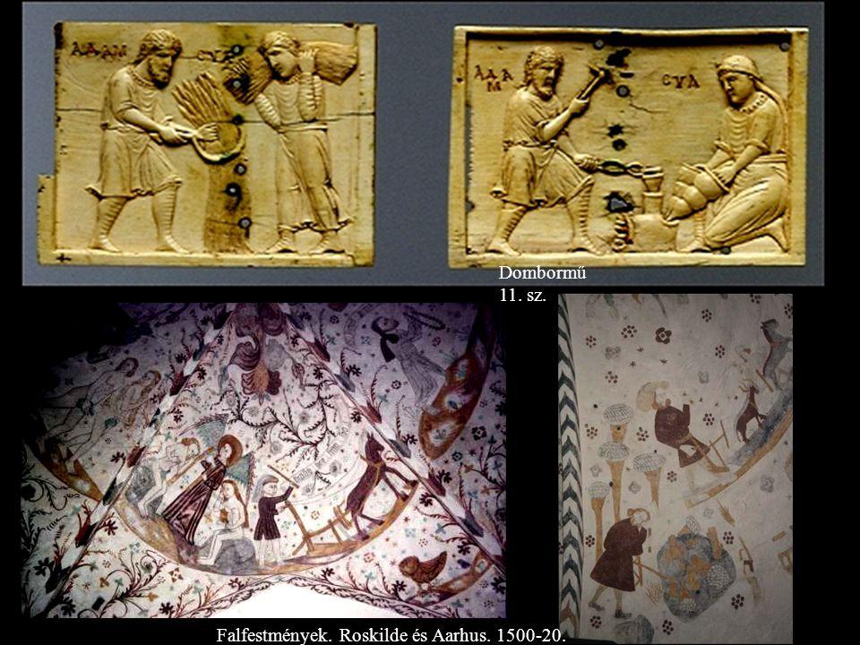 Dombormű 11. sz. Falfestmények. Roskilde és Aarhus. 1500-20.