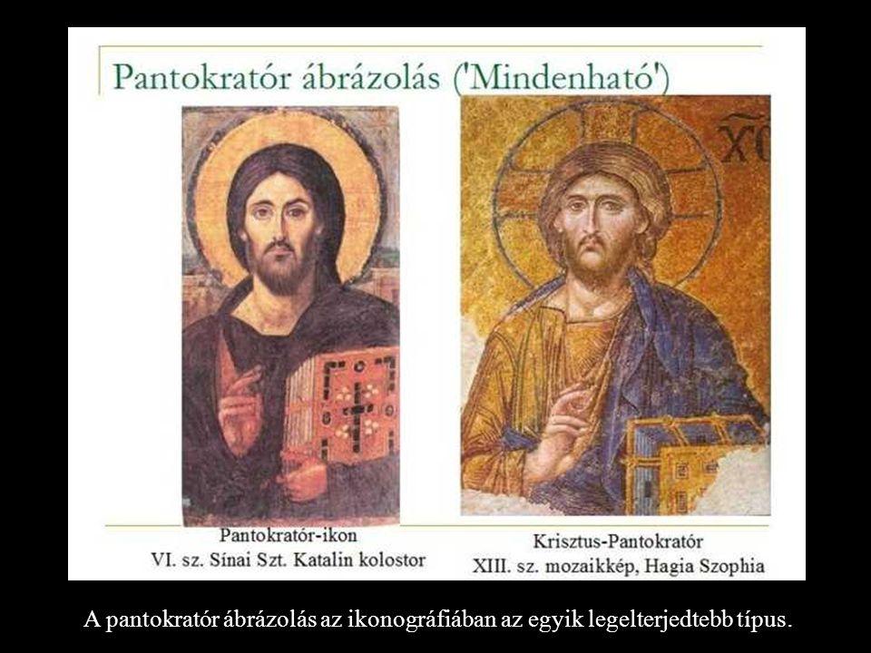 A pantokratór ábrázolás az ikonográfiában az egyik legelterjedtebb típus.