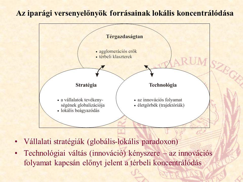 Az iparági versenyelőnyök forrásainak lokális koncentrálódása