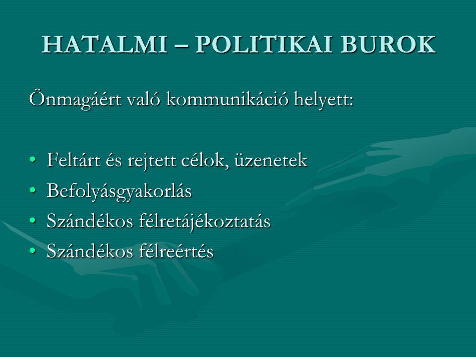 HATALMI – POLITIKAI BUROK