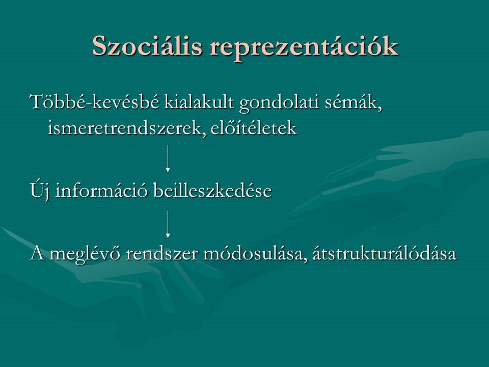 Szociális reprezentációk