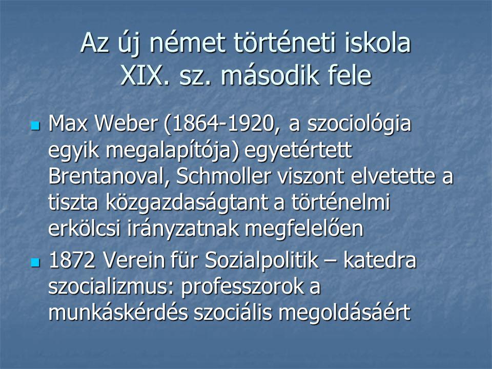 Az új német történeti iskola XIX. sz. második fele