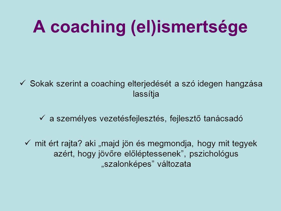 A coaching (el)ismertsége