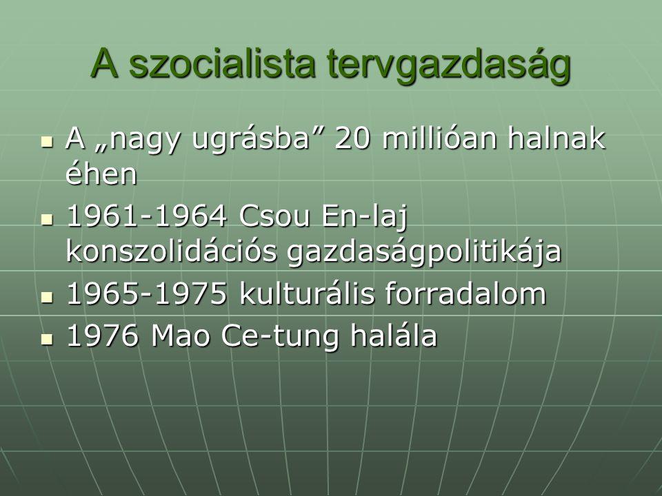 A szocialista tervgazdaság