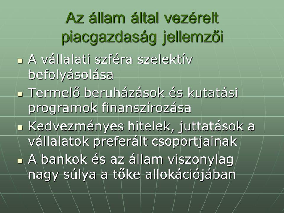 Az állam által vezérelt piacgazdaság jellemzői
