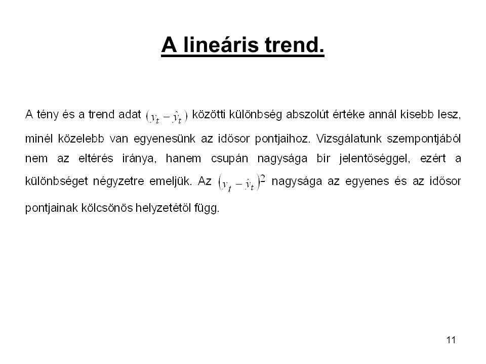 A lineáris trend.