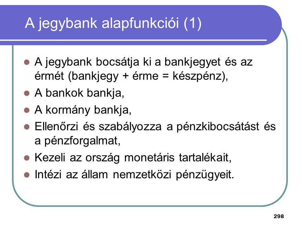 A jegybank alapfunkciói (1)