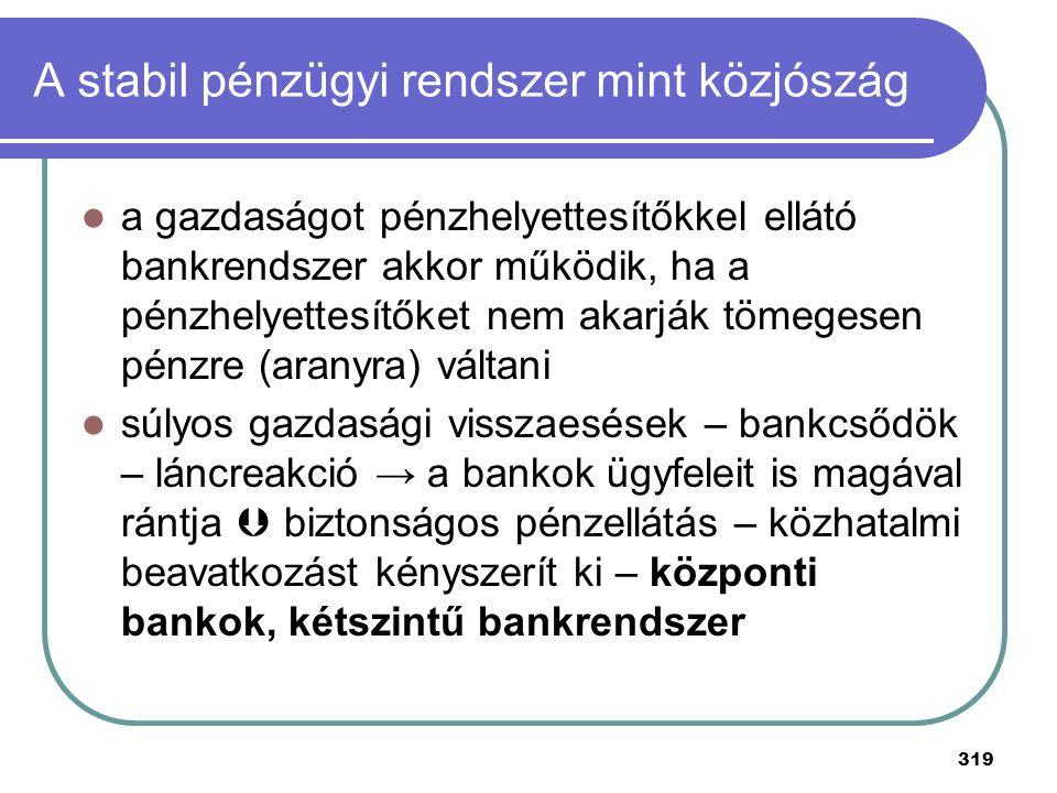 A stabil pénzügyi rendszer mint közjószág