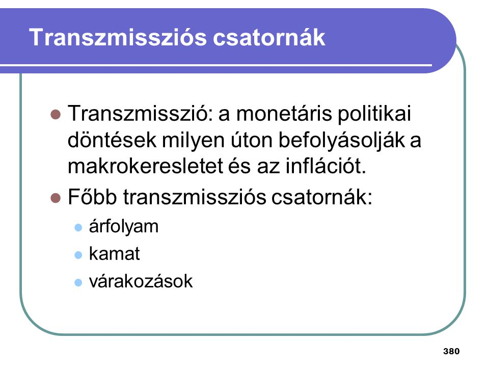 Transzmissziós csatornák