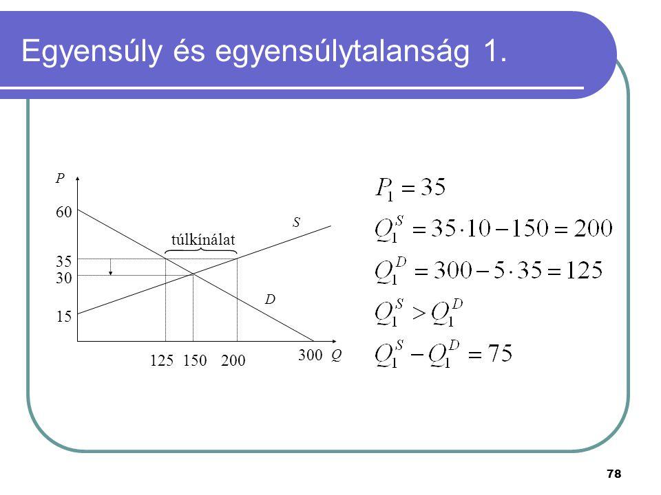 Egyensúly és egyensúlytalanság 1.