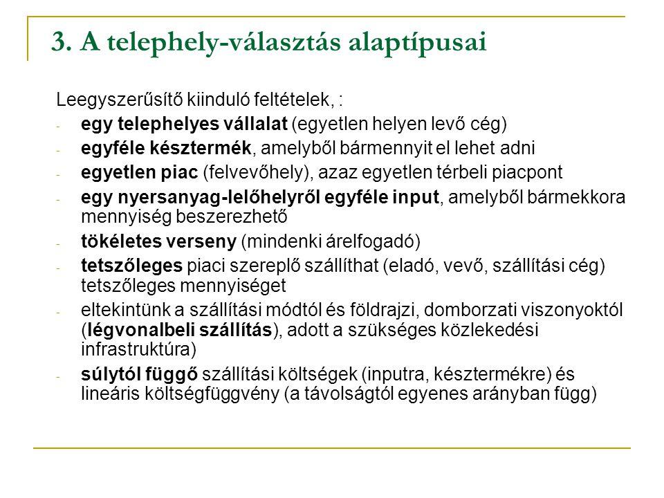 3. A telephely-választás alaptípusai