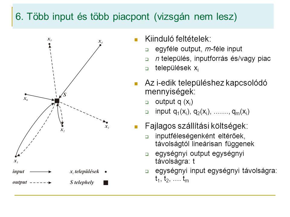 6. Több input és több piacpont (vizsgán nem lesz)